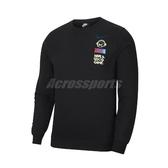 Nike 長袖T恤 NSW Club Fleece 黑 彩 男款 大學T 運動休閒 【ACS】 DC3938-010