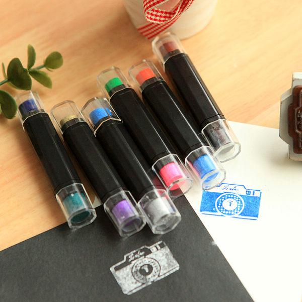 【00479】 韓版雙色糖果色印泥筆 塗抹式油性 卡片手作印章DIY