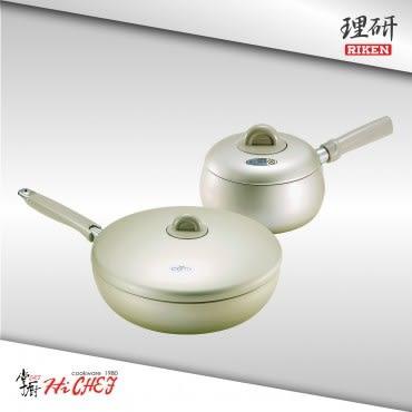 《RIKEN》理研 28cm 不沾平底鍋組(LO-28F+18S)