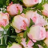 單支仿真玫瑰花束高檔絹花婚慶客廳茶幾裝飾假花擺放花藝 夢藝家