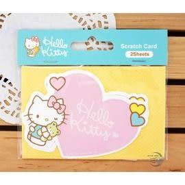 三麗鷗凱蒂貓 Hello Kitty 刮刮小卡 『粉紅心』(SR-E48) 卡片 刮刮卡