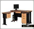 {{ 海中天休閒傢俱廣場 }} C-22 摩登時尚 辦公桌系列 183-24 CD秘書桌-160cm(木紋檯面)