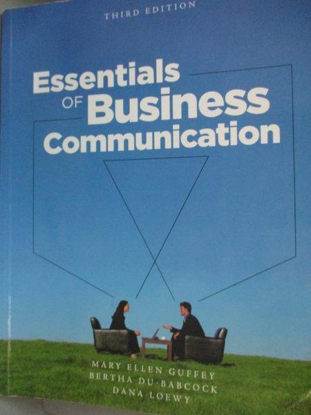 【書寶二手書T7/語言學習_HMU】Essentials of Business Communication with