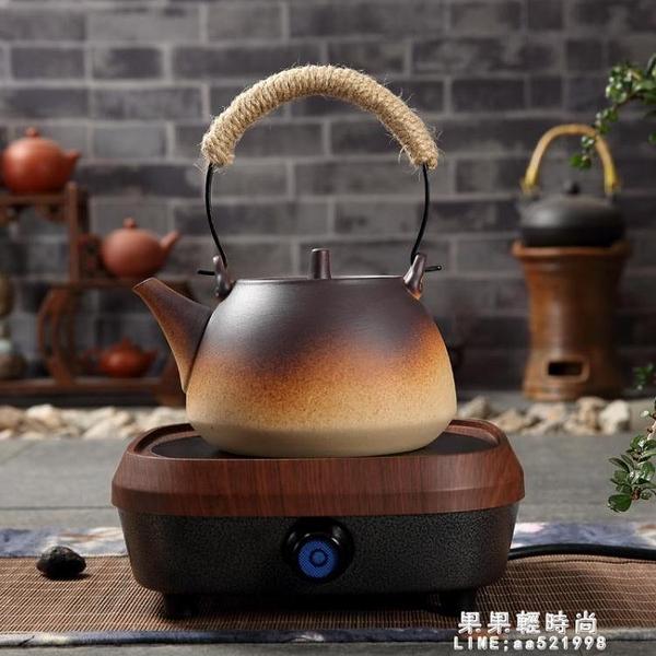 陶瓷燒水壺煮茶器功夫泡茶具粗陶電熱陶爐戶外明火煤氣養生單陶壺 果果輕時尚NMS