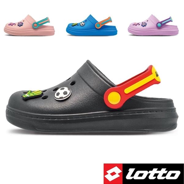 男女童 LOTTO 3080 台灣製造涼拖鞋兩穿 布希鞋 洞洞鞋 園丁鞋 花園鞋 兒童拖鞋 59鞋廊