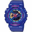 【台南 時代鐘錶 CASIO】Baby-G 宏崑公司貨 BA-112-2A 多功能雙顯運動電子錶