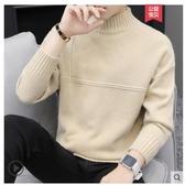 熱銷高領毛衣男士毛衣半高領秋冬季2020新款韓版加絨加厚打底針織衫潮流線衣男