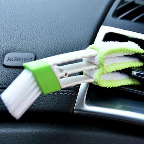 雙頭清潔刷SG704 多功能 車用 空調 冷氣出風口 百葉窗 儀表板 除塵刷 空調刷 鍵盤刷