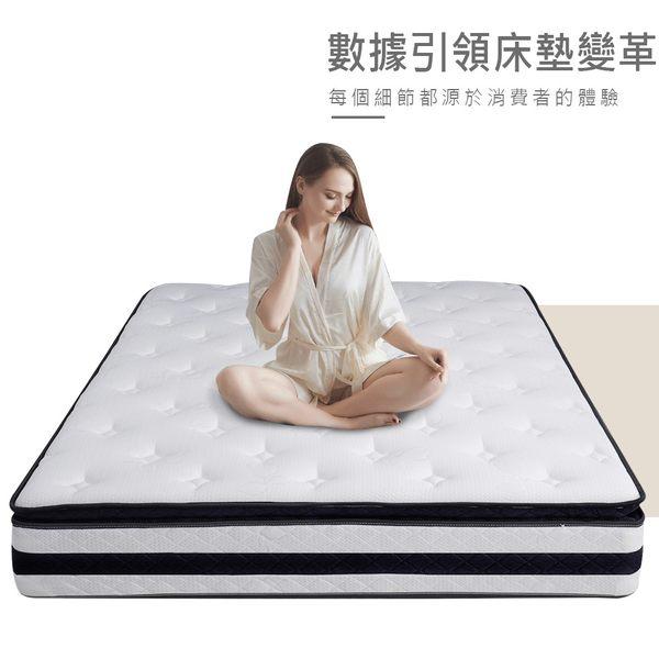 【YUDA】超級床墊 奢華款 雙面睡【50mm乳膠+加厚70mm舒柔表布】5尺雙人真三線獨立筒床墊
