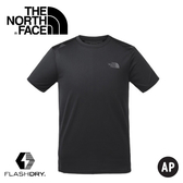 【The North Face 男 排汗短T《黑》】3GE8/排汗衣/短T