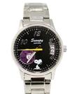 【卡漫城】 75折 Snoopy 金屬錶 日期星期 黑M ㊣版 手錶鐵錶 史努比史奴比 男錶對錶 不鏽鋼強化水晶