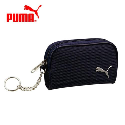 深藍款【日本正版】PUMA 零錢包 卡片包 收納包 附鍊子 防潑水 - 087875