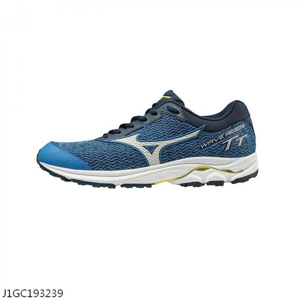MIZUNO WAVE RIDER TT [J1GC193239] 男鞋 運動 慢跑 馬拉松 休閒 輕量 避震 耐磨 藍