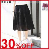 荷葉裙襬 蕾絲褲裙 緞帶【coen】