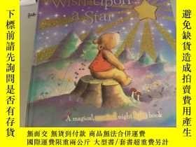 二手書博民逛書店英文原版紙板繪本Wish罕見Upon a Star對着星星許願