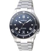 Anonimo NAUTILO Classic義大利海軍機械錶-暗夜黑  AM500909102M01