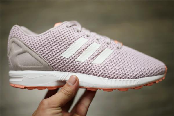 ADIDAS ZX FLUX W 粉紫 透氣網布 休閒 慢跑鞋 女 2016/5月 (布魯克林) AQ3069