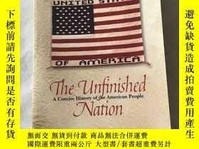 二手書博民逛書店The罕見unfinished nation A concise history of the American