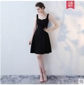 小鄧子宴會晚禮服2017新款黑色時尚短款小禮服短裙修身連衣裙顯瘦女冬季