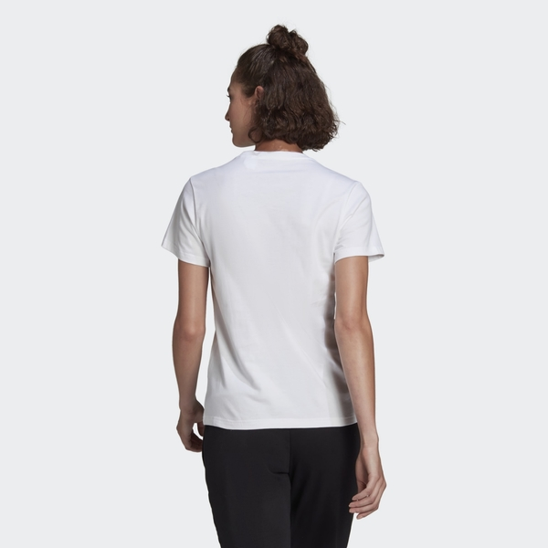 ADIDAS ESSENTIALS 女裝 短袖 慢跑 休閒 純棉 經典 基本 白【運動世界】GL0649