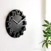 現代簡約創意掛鐘客廳3D立體個性鐘表靜音掛表時尚數字藝術