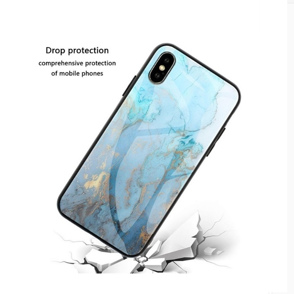 【妃航】iPhone 11 大理石紋 TPU 玻璃/亮面 防摔/抗震/防滑 軟殼/保護套/保護殼
