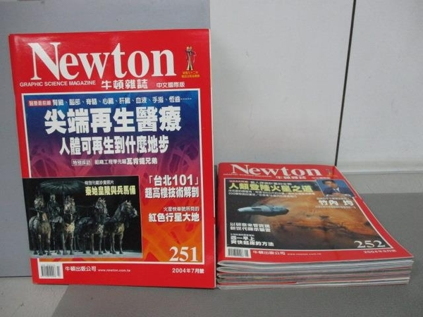 【書寶二手書T4/雜誌期刊_RIA】牛頓_250~255期間_共6本合售_尖端再生醫療等