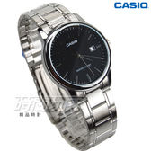 CASIO卡西歐 MTP-V002D-1A 成熟男仕時尚鋼帶腕錶 石英男錶 防水 學生錶 黑 MTP-V002D-1AUDF