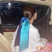 髮帶絲巾女法式復古發飾女百搭裝飾小絲巾發帶圍巾【倪醬小鋪】