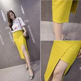 【優選】包臀中長款H型個性印花高腰半身裙子多款多色