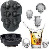創意冰模具多孔骷髏頭冰格3d邪惡冰塊威士忌冰球硅膠制冰盒 【格林世家】