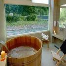 【烏來】湯布苑 - 溪景 (檜木桶) 湯房 (大床+電視 + 飲料 + 點心)