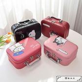 便攜ins化妝包小號韓國簡約可愛少女心收納盒大容量手提化妝箱