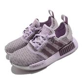 【海外限定】adidas 休閒鞋 NMD_R1 W 粉 紫 白 女鞋 襪套式 運動鞋 【ACS】 EF4274