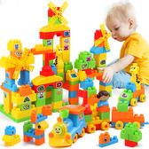 兒童積木拼裝玩具益智6-7-8-10歲男孩子塑料拼插寶寶1-2-3周歲女 -交換禮物