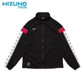 MIZUNO 男裝 外套 立領 套裝 針織 側邊LOGO 黑 紅【運動世界】 D2TC953109