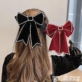 頭飾同款珍珠大蝴蝶結發夾發卡后腦勺頂夾夾子頭飾彈簧夾頭飾  迷你屋 新品