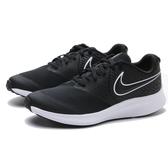 NIKE 慢跑鞋 STAR RUNNER 2 黑白 網布 大童 女(布魯克林) AQ3542-001