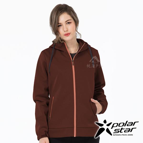 PolarStar 女 防風Soft Shell外套『黑紅』P19202 戶外│休閒│登山│露營│機能衣│保暖外套│連帽外套