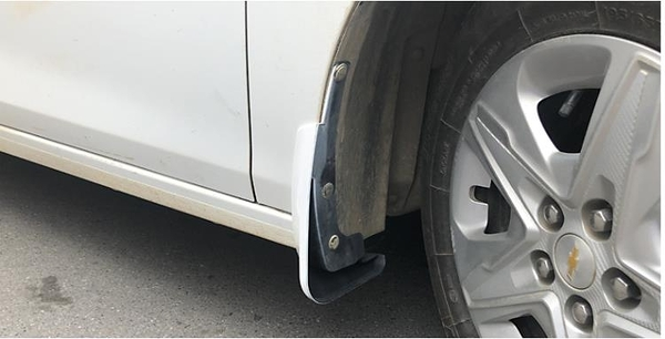 雪佛蘭科沃茲擋泥板白色專用科沃磁320改裝汽車原裝配件軟膠裝飾