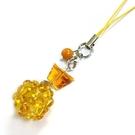 開運招財黃水晶繡球與元寶吊飾