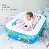嬰兒大人家用洗澡桶家庭大號海洋球池兒童充氣游泳池加厚寶寶新生LB15316【123休閒館】