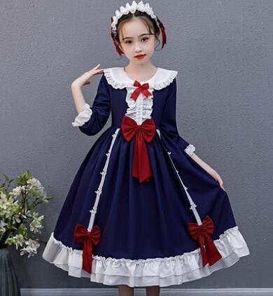 女童洋裝 兒童洛麗塔公主裙正版女童洋裝連衣裙小女孩蓬蓬蘿莉裙【快速出貨八折搶購】