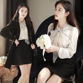 蝴蝶結襯衫女長袖2019春裝新款洋氣小衫很仙的上衣白色雪紡職業裝