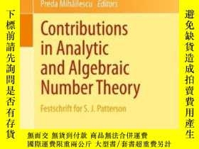 二手書博民逛書店Contributions罕見In Analytic And Algebraic Number TheoryY