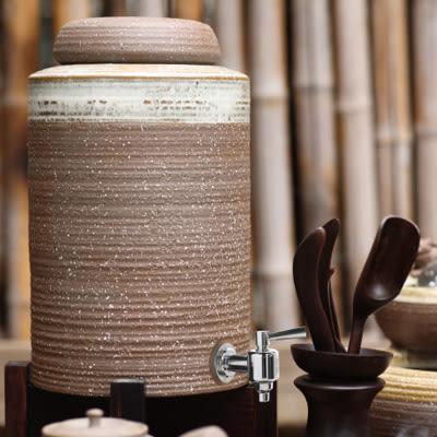 陸寶【原礦品水罐】3.4L 一罐兩杯 冷水罐 陶瓷罐 儲水罐 健康活水 軟化水質