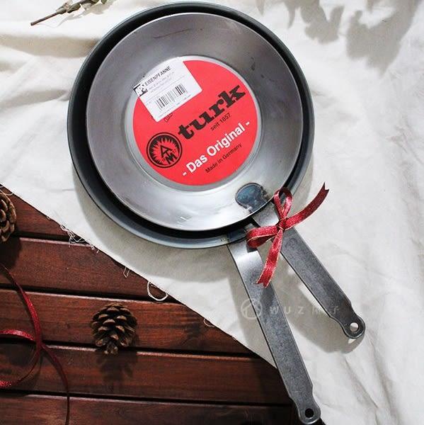 79折+贈清潔球刷 ▎德國turk 冷鍛造鐵鍋-單柄24cm|炒鍋 煎鍋 手工 無塗層 環保 德國原裝