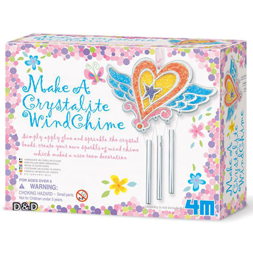 《4M美勞創作》Make a Crystalite wind Chime 水晶珠珠風鈴 ╭★ JOYBUS玩具百貨