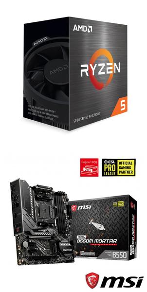 【自組DIY兩件組R56】AMD R5 5600X+微星 B550M MORTAR