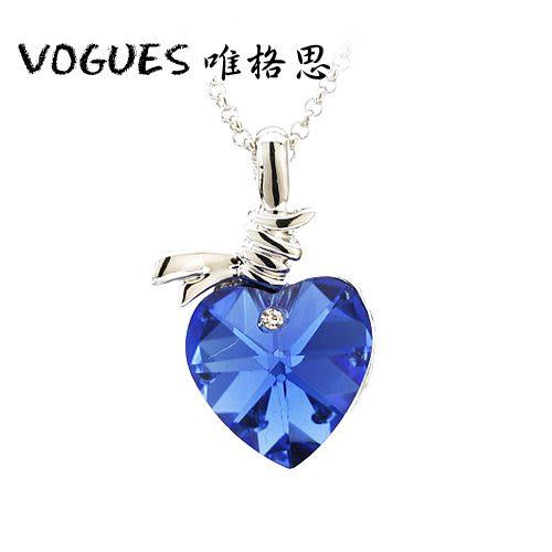 全心全意鑲鑽鋯石項鍊 (6色)A017 情人節禮物【Vogues唯格思】